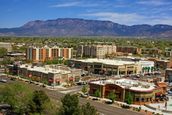 Albuquerque Uptown Shopping Mall with Sandias in the Background