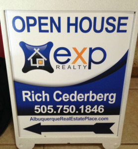 exp realty open house sign