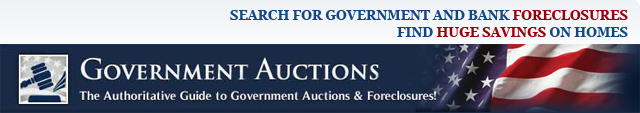 Search For Government and Bank Foreclosures.