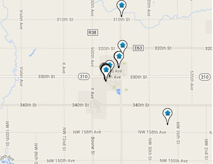 Slater Homes for Sale Map Search Results