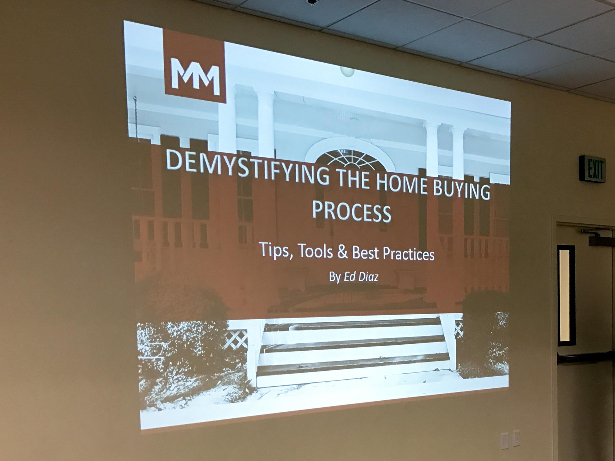 Beginning the talk at the Real Estate seminar