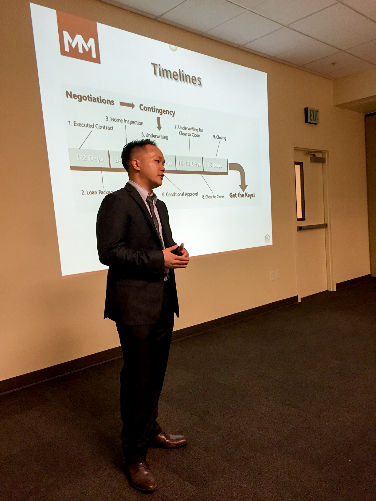 """Matthew Ma presenting at Real Estate Seminar on """"Demystifying the Home Buying Process"""""""