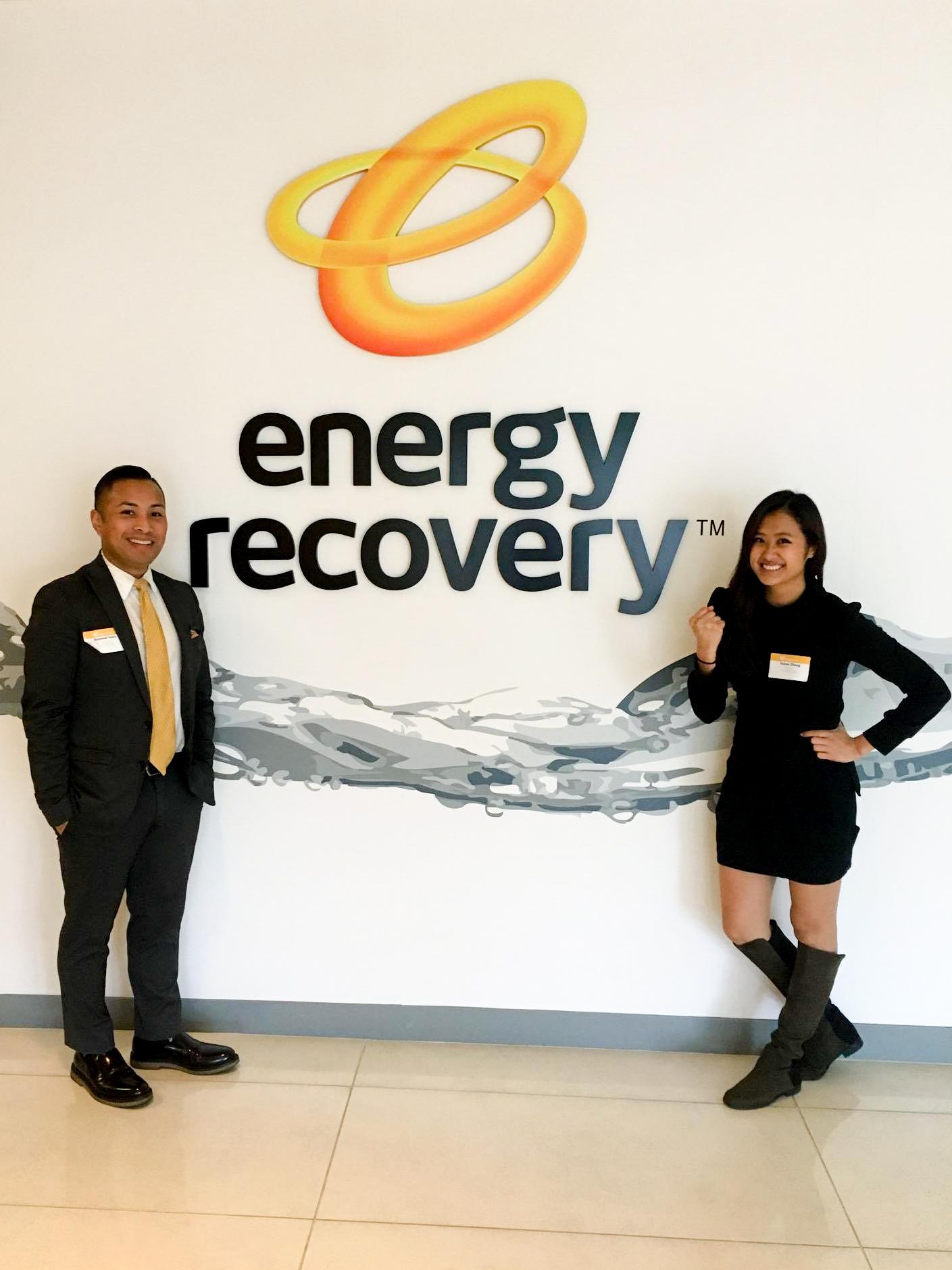 Rommel Yema & Venus Zheng at Energy Recovery, Inc