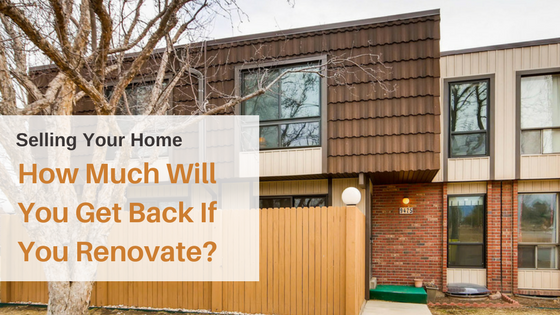 How Much Will You Get Back If You Renovate?