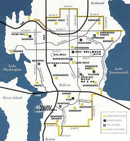 Bellevue School District Map