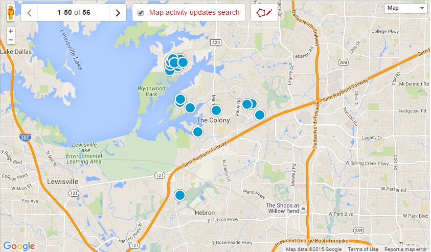 The Colony TX Real Estate and Home Search Results