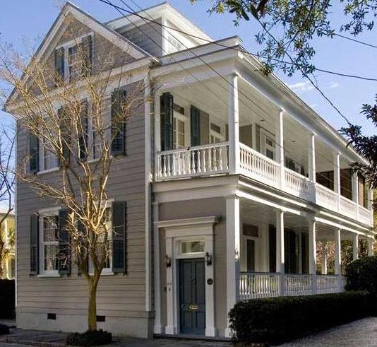 Charleston single house vs double house for Charleston single house