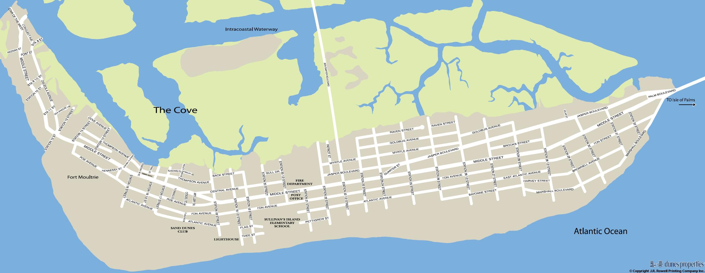 Island Sullivan Map