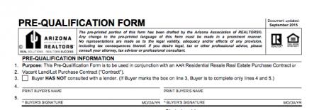 AAR Buyer Pre-qualification Form