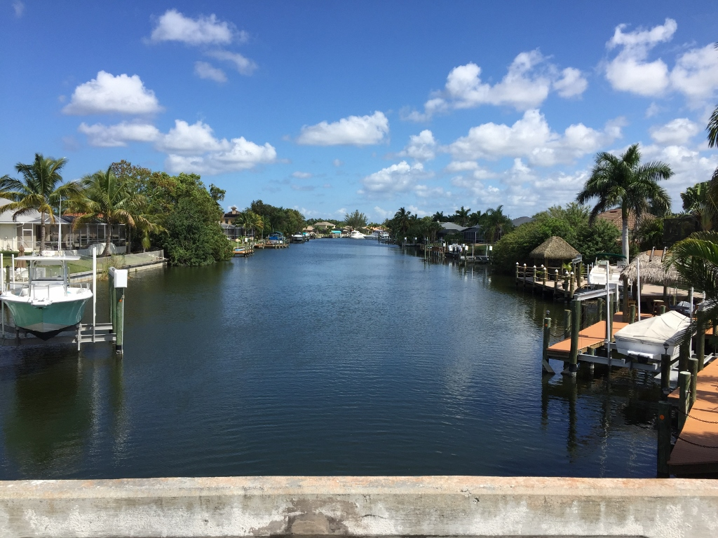 View from Surfside of Maxine Canal