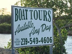 Boat Tours sign