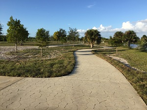 Paved trail at Sirenia Vista Park