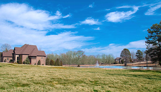 Water view homes in Providence Downs