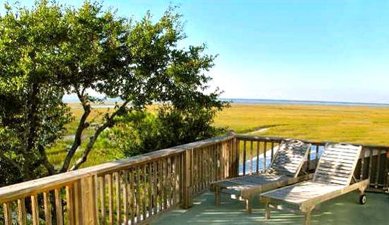 Home views on Dewees Island