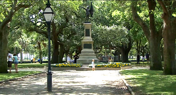 Battery Park in Historic Charleston
