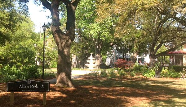 Allan Park in Hampton Park Terrace