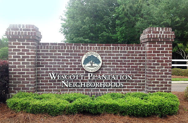 Westcott Plantation Entrance