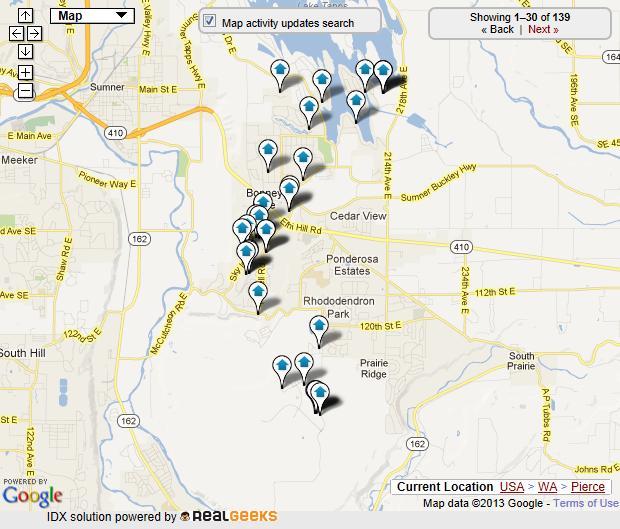 bonney lake map