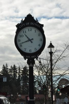 duvall town clock