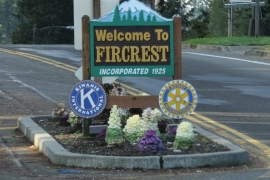 fircrest welcome sign