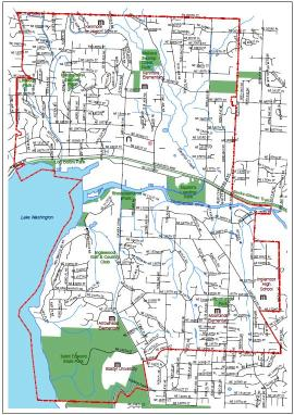 city of kenmore map