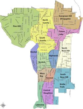kirkland neighborhood map