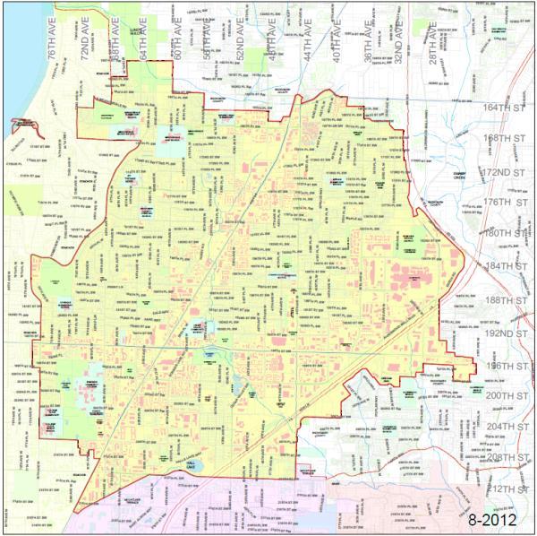 lynnwood street map