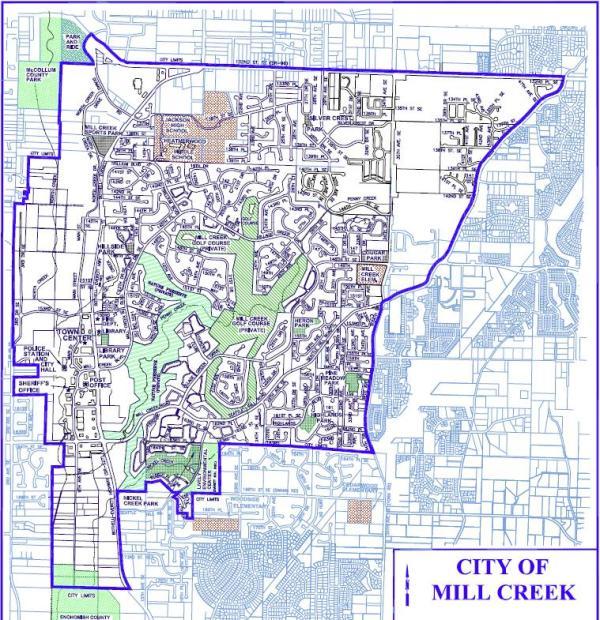 mill creek street map
