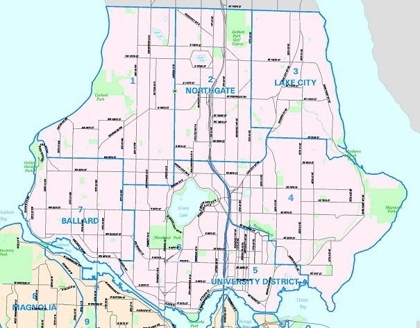 north seattle map