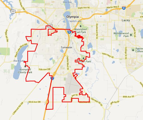 city of tumwater map