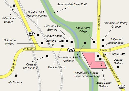 tourist area map woodinville