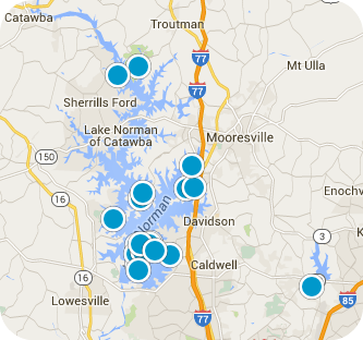 Lake Norman Real Estate Map