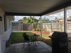 Covered rear porch, fully fenced yard!