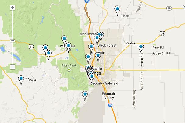 Colorado Springs Map Home Search