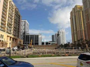Denny's Sunny Isles being demolished