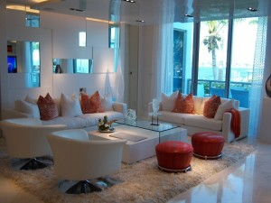 Luxury appointed Living Room Mariba Palms