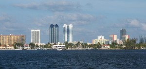 Views from Marina Palms Condo complex