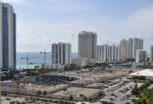 View from condos in Winston Towers Sunny Isles Beach