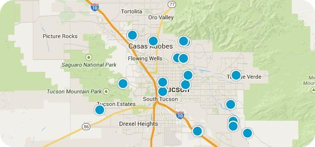 Tuscon Real Estate Map