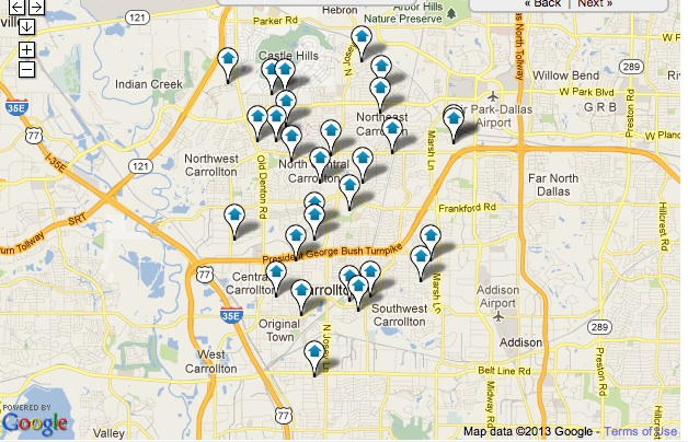 Carrollton Homes for Sale Map Search