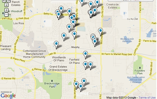 Murphy Homes for Sale Map Search