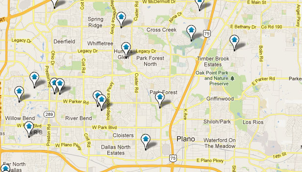 Plano TX Real Estate Map Search