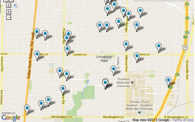 University Park Homes for Sale Map Search