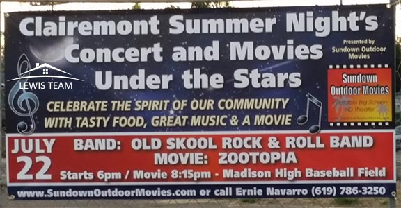 Clairemont Summer Nights Concert and Movies Under the Stars