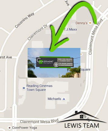 Clairemont Town Square Map