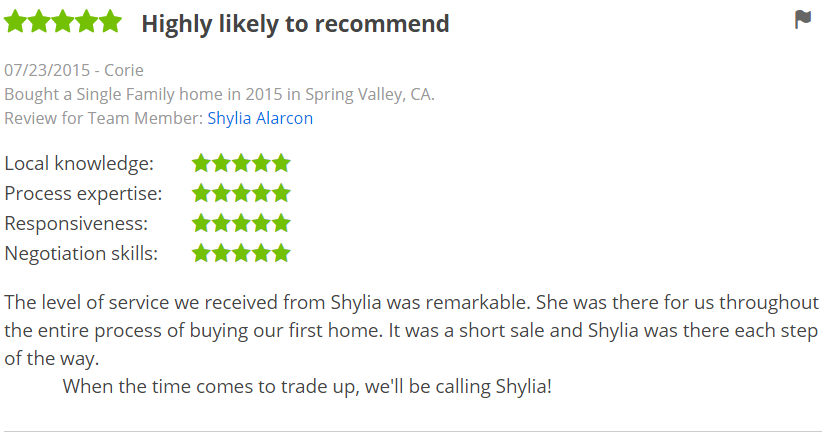 Five Star Zillow Agent Reviews in La Mesa San Diego - The Lewis Team in San Diego
