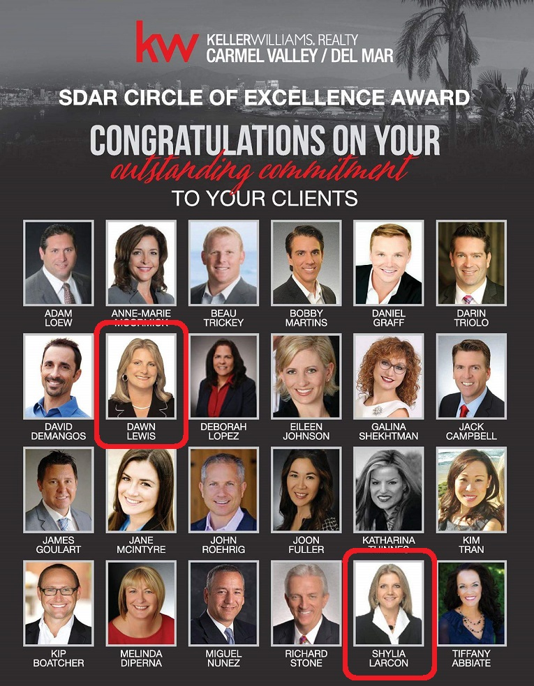 Keller Williams Circle of Excellence - The Lewis Team San Diego
