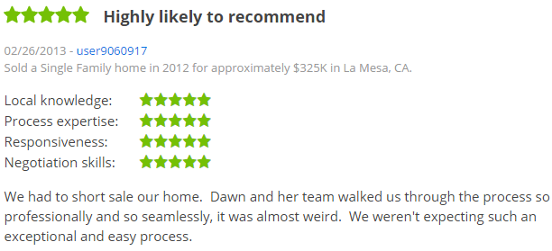 La Mesa Top Zillow Agent - La Mesa San Diego 5 Star Agent Zillow Review - Dawn Lewis with The Lewis Team at Keller Williams