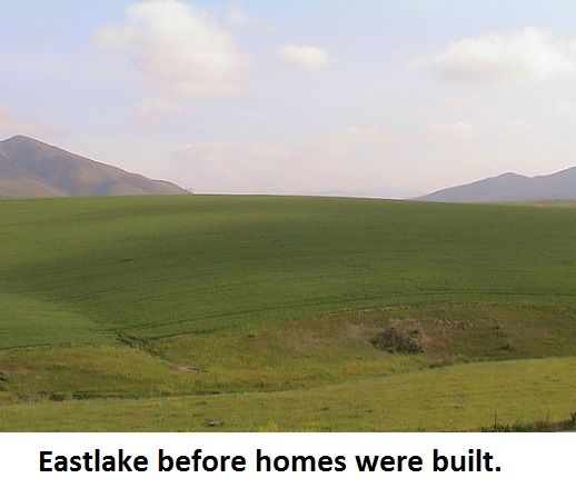 Picture of Eastlake in Chula Vista before the homes were built in the area