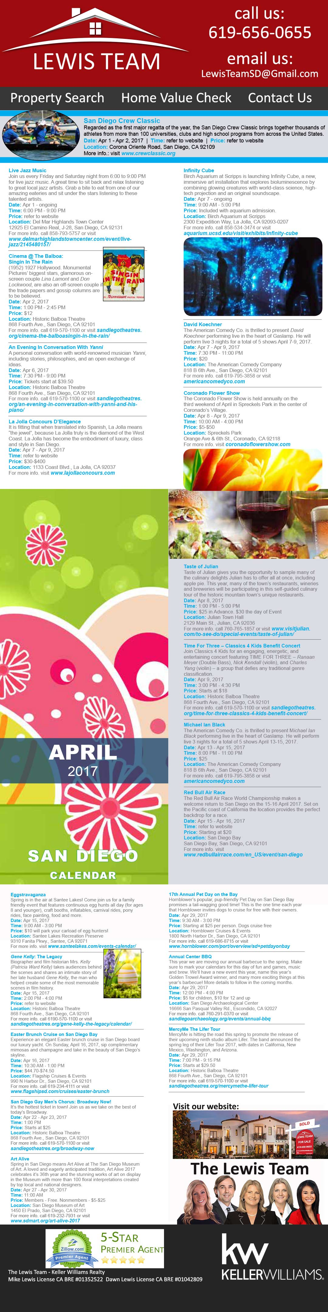 The-Lewis-Team-Calendar of Events April 2017
